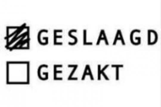 Geslaagd voor English IB Higher Level